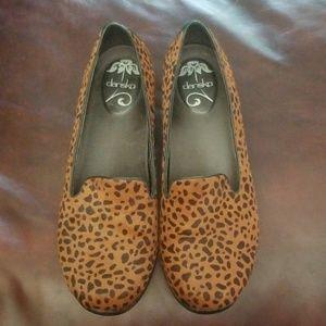 Dansko Olivia Leopard print (calf hair) loafer sho